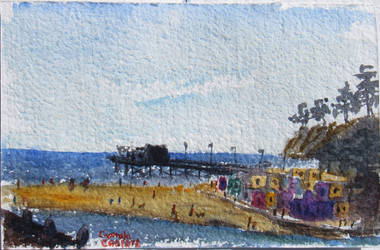 Capitola Plein Air Sketch by Callego