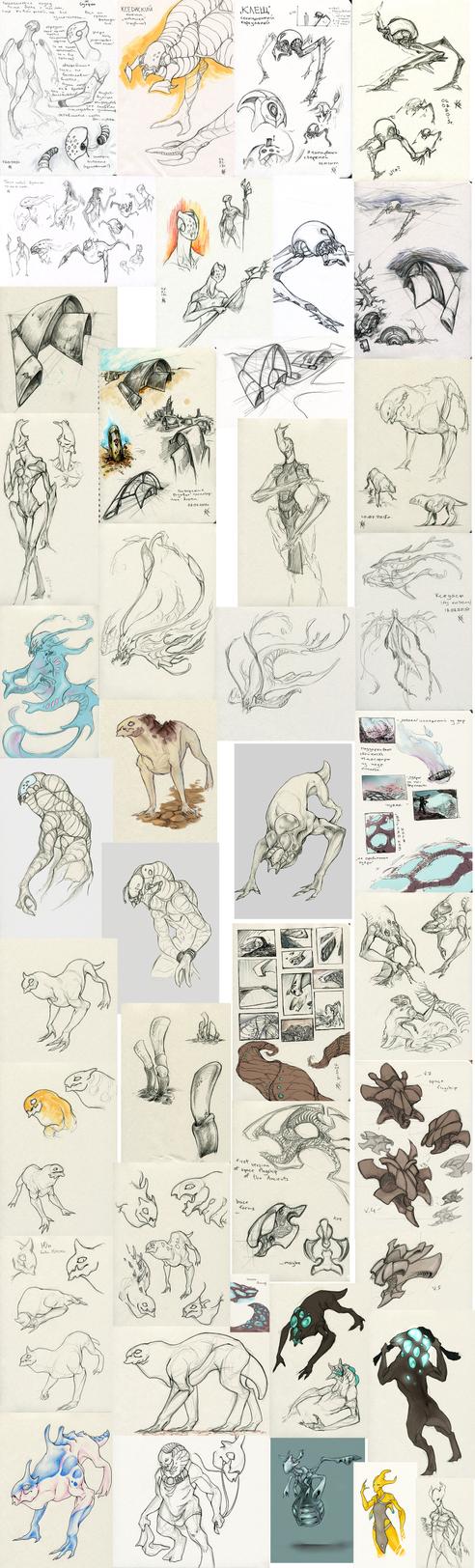 very big sketchdump by Ket-n-Ksenon