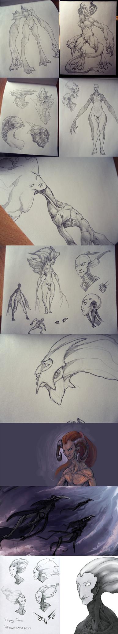 Sketch dump by Ket-DawnAtSunset