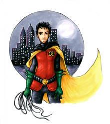 Damian Wayne - colour by Sjostrand