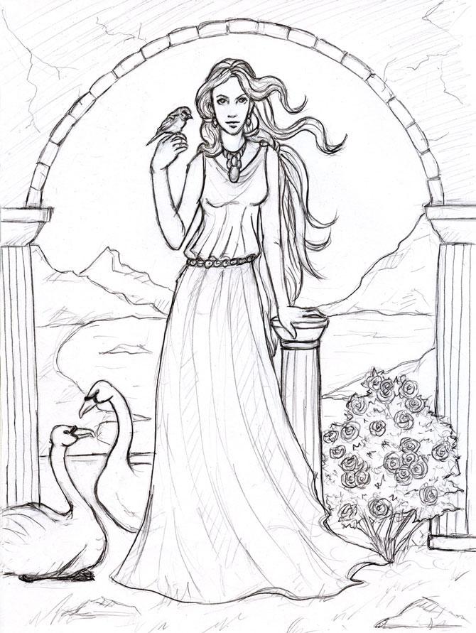 Aphrodite - Goddess of Love by Sjostrand
