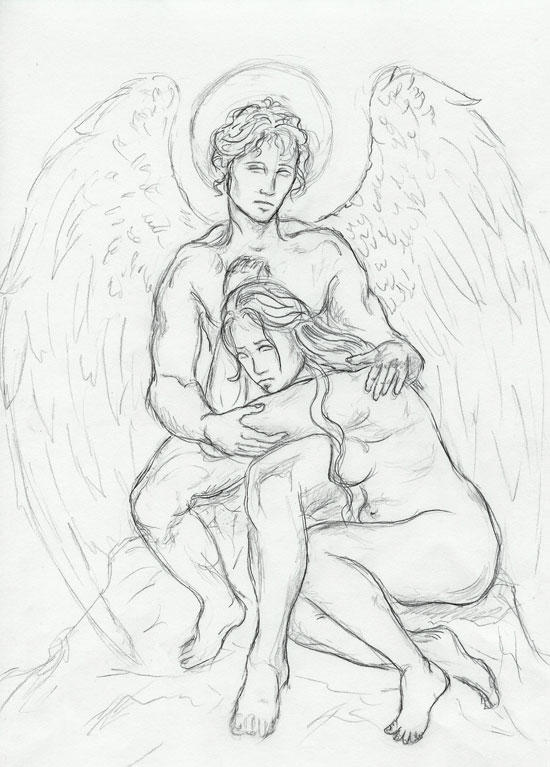 Fotos De Tatuajes De Alas Tatuajes Alas Angel Diseno also Factorzero wordpress also 30 Mind Blowing Tattoo Sketches together with Guardian Angel Sketch 14342326 in addition Masking Julie Su Lineart 181846793. on unfinished angel