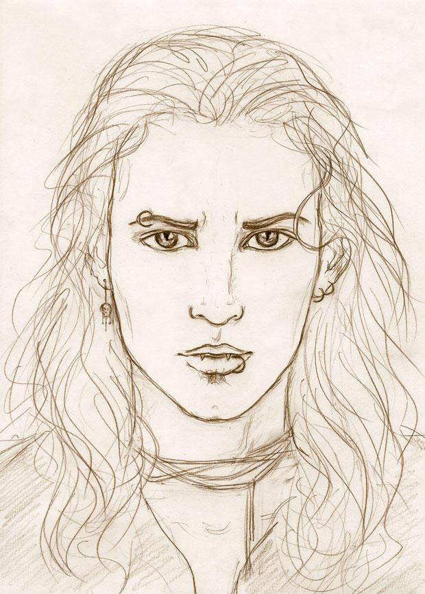 Male vampire-sketch by Sjostrand on DeviantArt