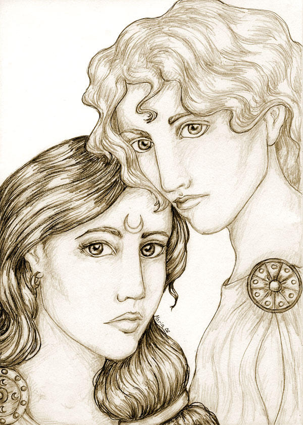 Artemis and Apollo by Sjostrand