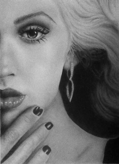 Christina A Drawing by SheriRi09