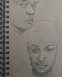 Faces from sketchbook