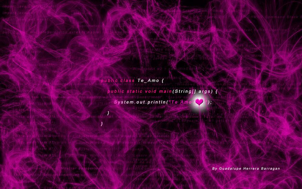 Wallpaper Love Java Programming by artgh