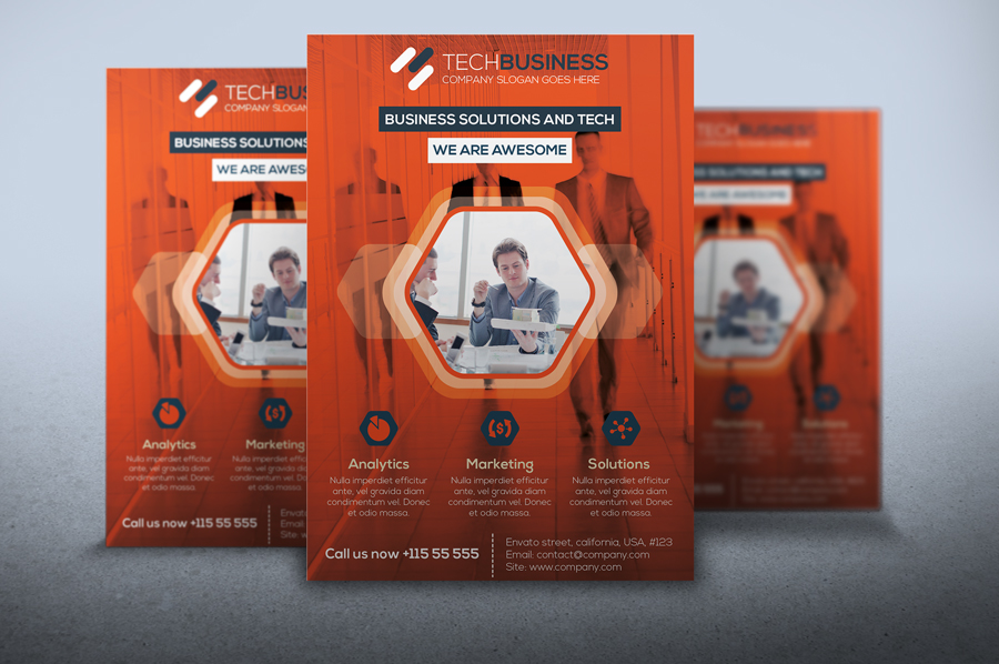 Flyer Tech business by artgh