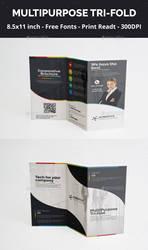 Corporative Trifold Design PSD by artgh