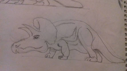 Dinosaur Triceraptops Practice by artgh