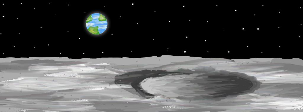 Practice moon landscape digital art environment by artgh