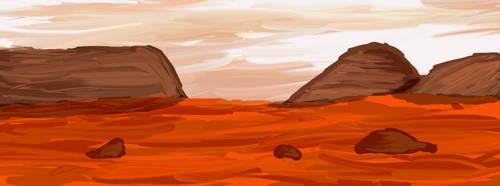 Mars environment landscape by artgh