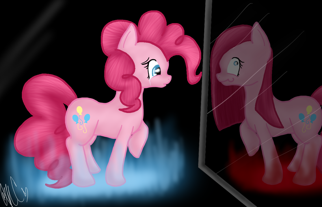 Two Sides of Pinkie Pie by Silent-x-Sketch