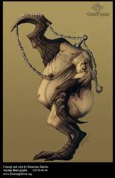 Horn-head concept by Sythgara