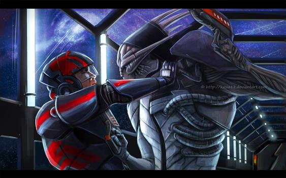 Saren vs Shepard