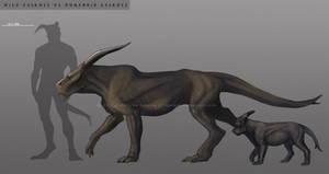 Wild vs humanoid easkull by Sythgara
