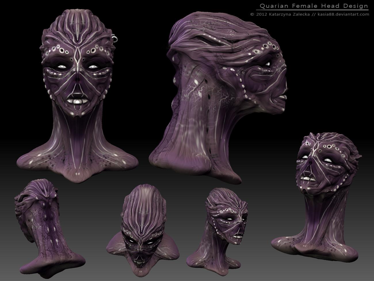 Quarian female 3d sketch design by Sythgara on DeviantArt  Quarian female ...