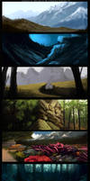 'Troll: Tale of a Tail' concept art - landscapes by Sythgara