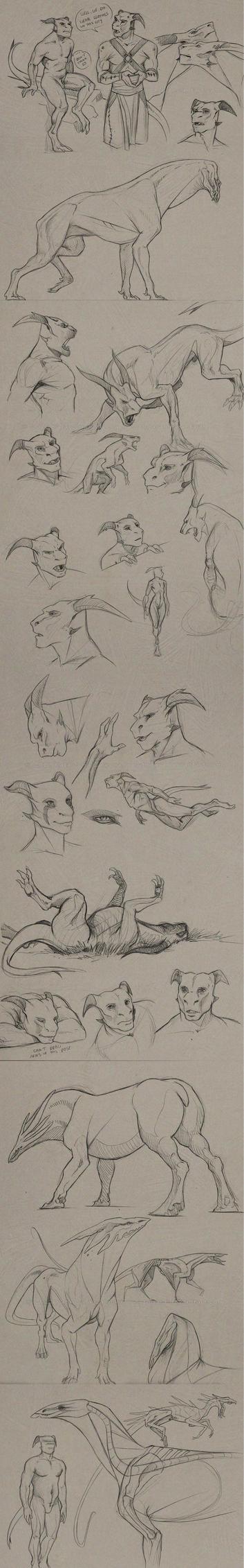 dec 2012 sketchdump part 2 by Sythgara