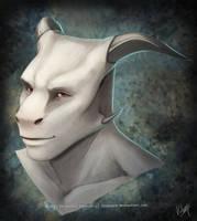 Albino Easkull by Sythgara