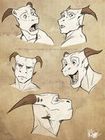 Easkull faces by Sythgara