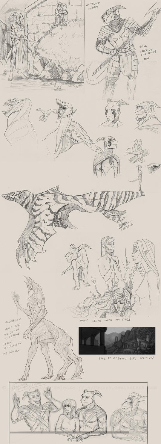 september 2013 sketchdump by Sythgara