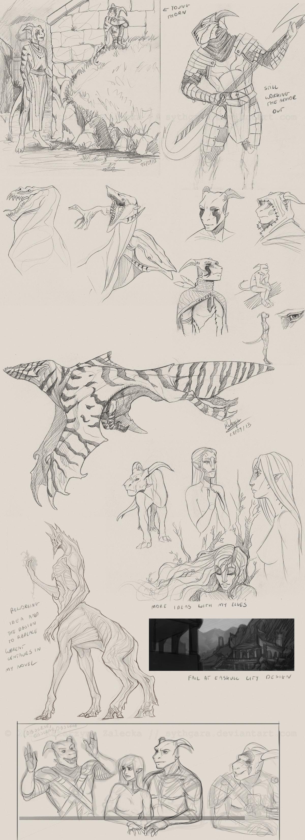 september 2013 sketchdump by Sythgara