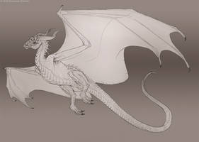 Pencil dragon by Sythgara