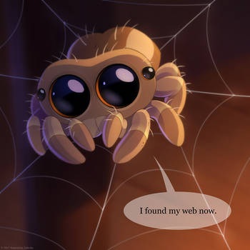 Lucas the spider FanArt - video below by Sythgara