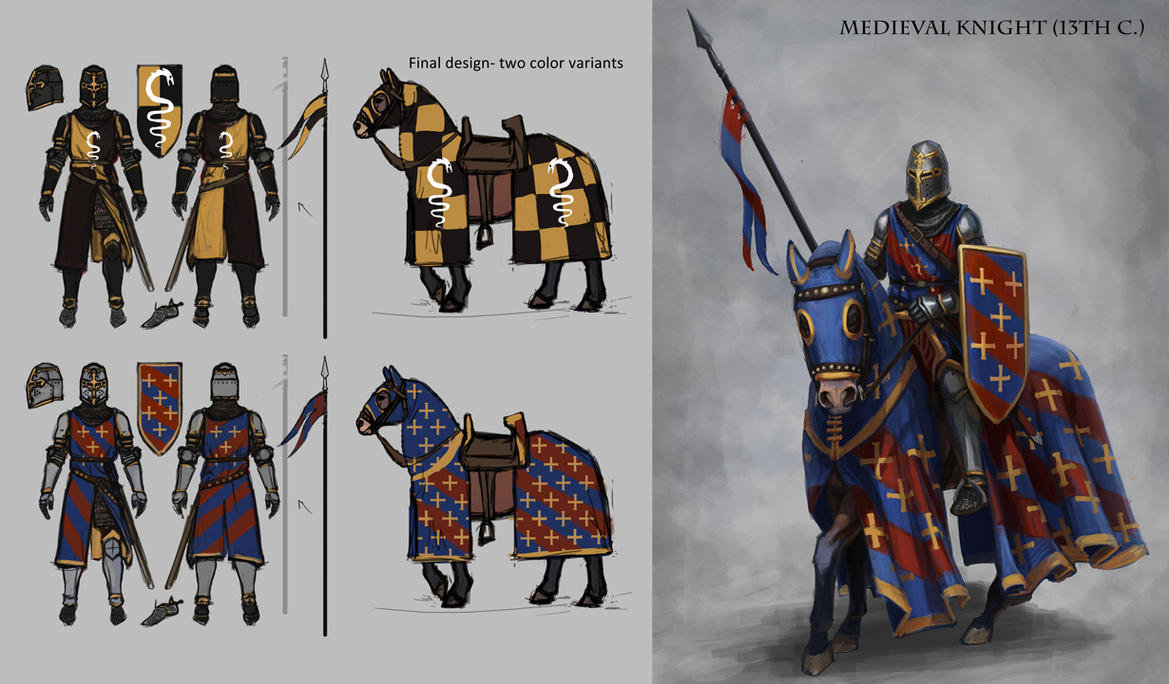 Geographically Ambiguous Medieval Knight by MeMyMine on DeviantArt