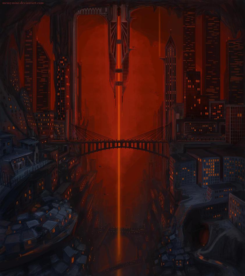 Dark Elf City by MeMyMine