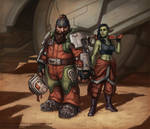 Gren and Brixa, space miners