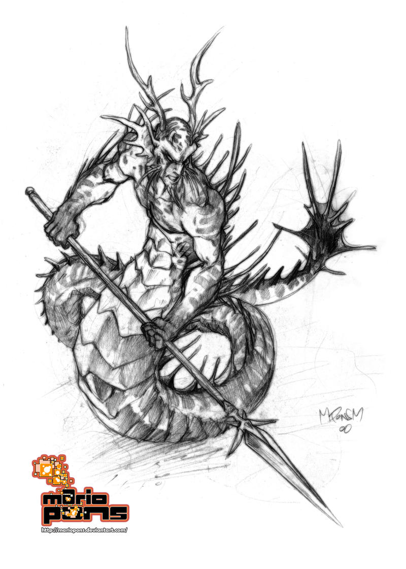 Tanar'ri sketch 1 by MarioPons