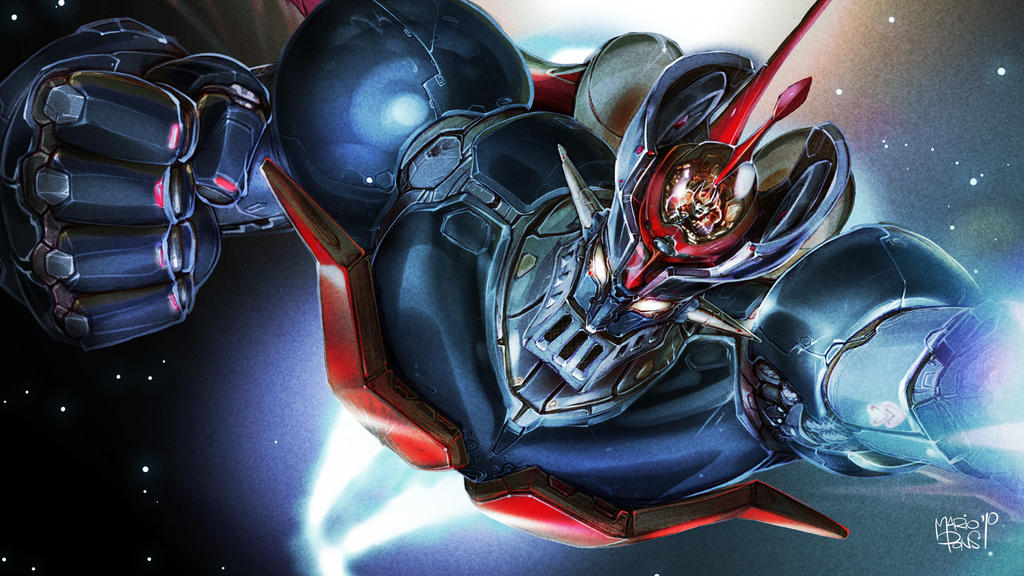 Mazinger-Z close-up by MarioPons