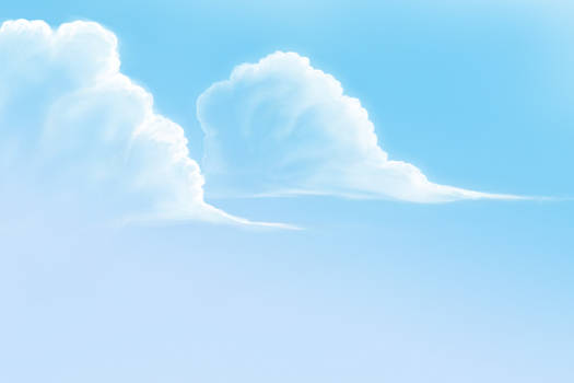Sky, Clouds drawing practice