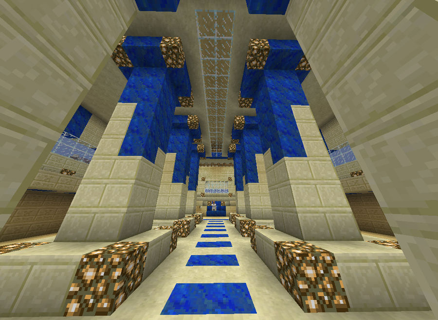 Sandstone Throne Room Minecraft By Hauntedshadowslegacy On Deviantart