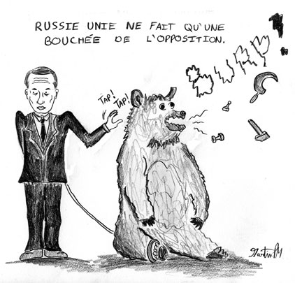 Caricature Russie unie