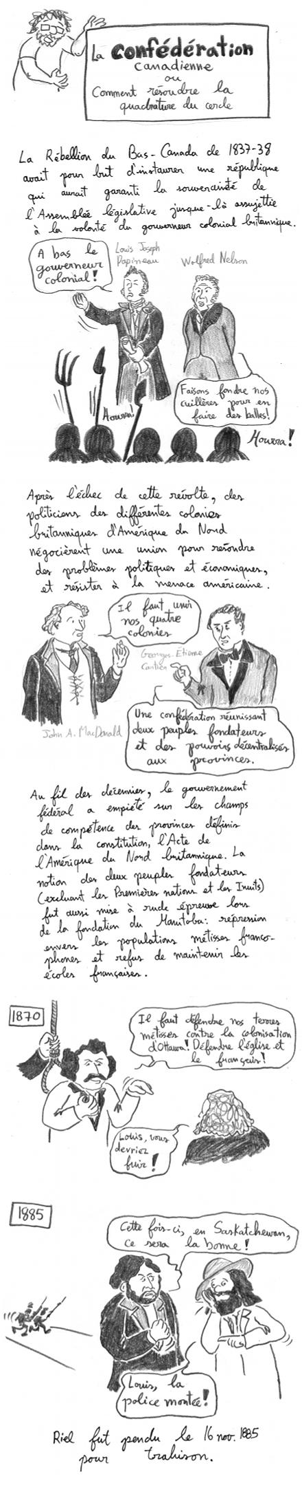 L'histoire de la Confédération canadienne et le débat linguistique