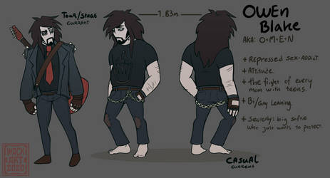 Owen Blake, reference sheet.