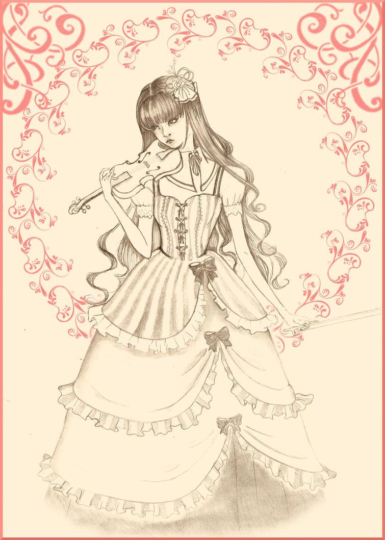 Violin girl by Mangetsu-tan on DeviantArt
