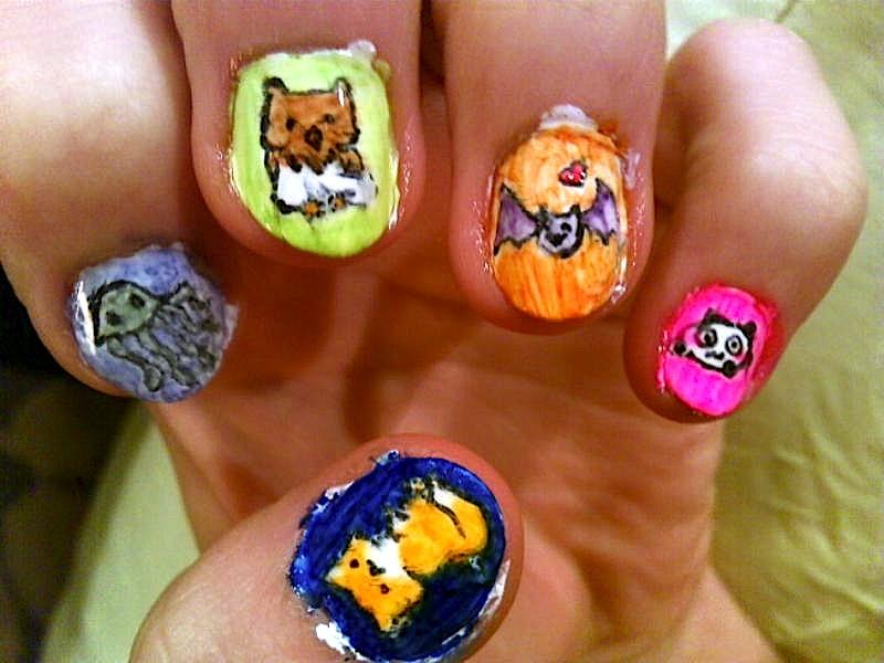 Animal nail art -left- by RyuzakiLivesOn on DeviantArt