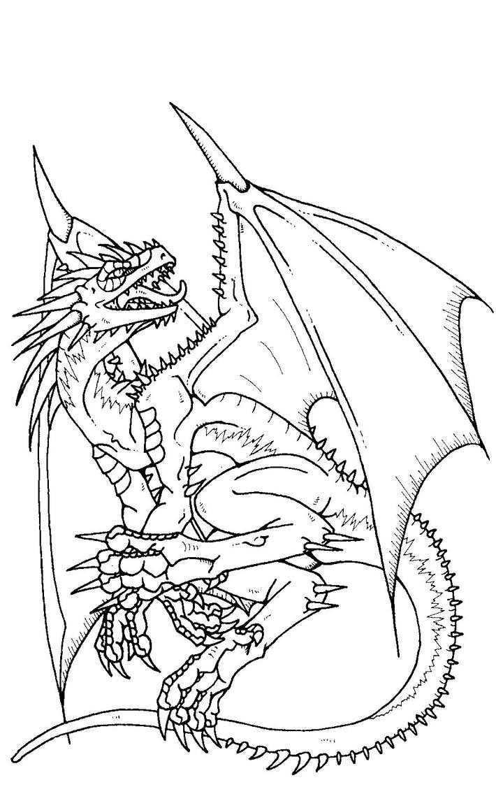 Dragon chino para colorear - Imagui