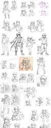 Sketch Dump - 4/6 by StarXrossed