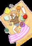 Kagamine Rin - Nap time with Bunnies