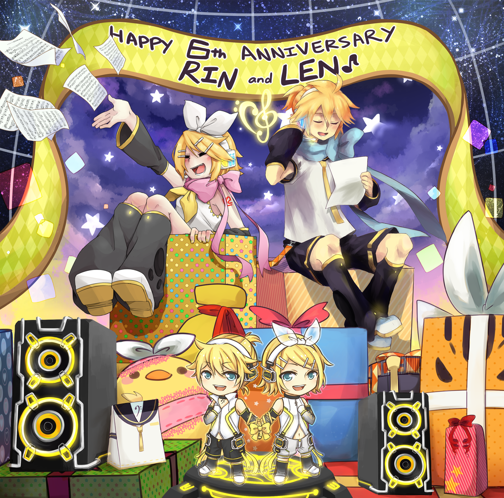 Collab - HAPPY 6TH BIRTHDAY KAGAMINE RIN AND LEN!!