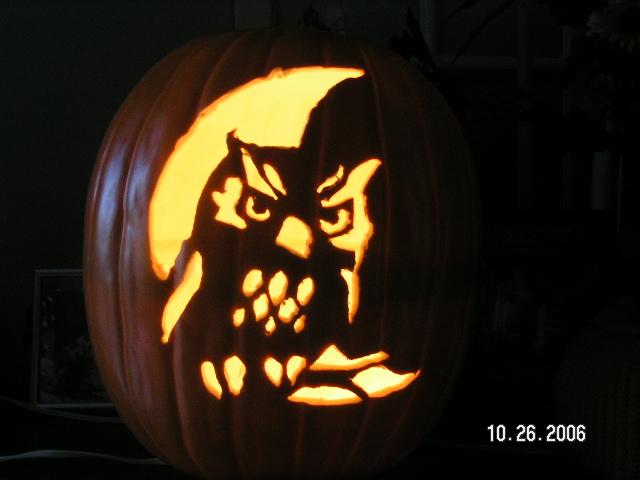 Pumpkin carving owl by kazerose on deviantart