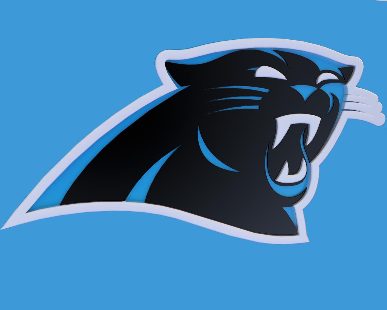 Carolina Panthers 3D Sports Logo by aberrasystems