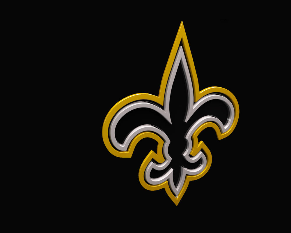 New Orleans Saints 3d Sports Logo By Aberrasystems On