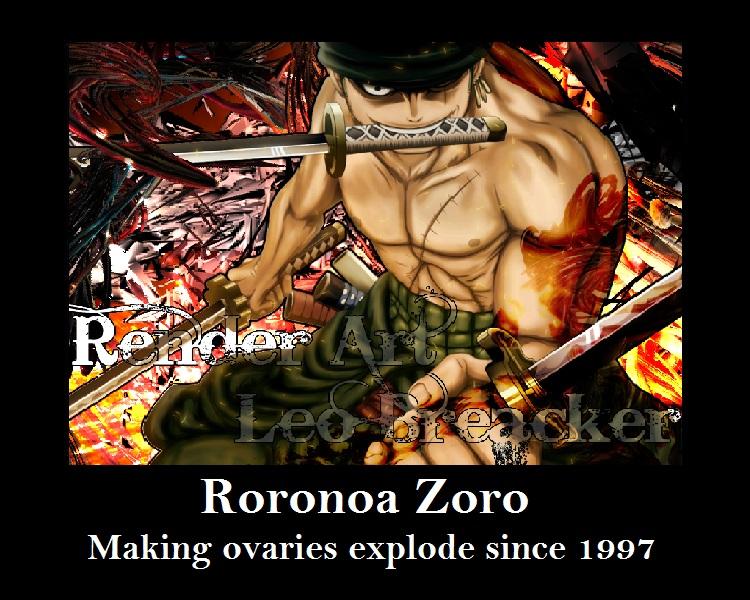 Roronoa Zoro Demotivation poster by CanadianGothStalker