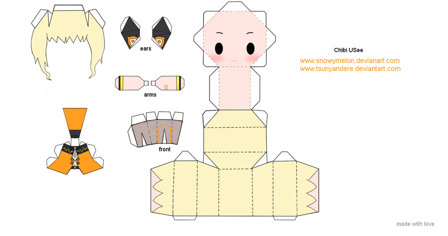 chibi papercraft template male anime pictures www